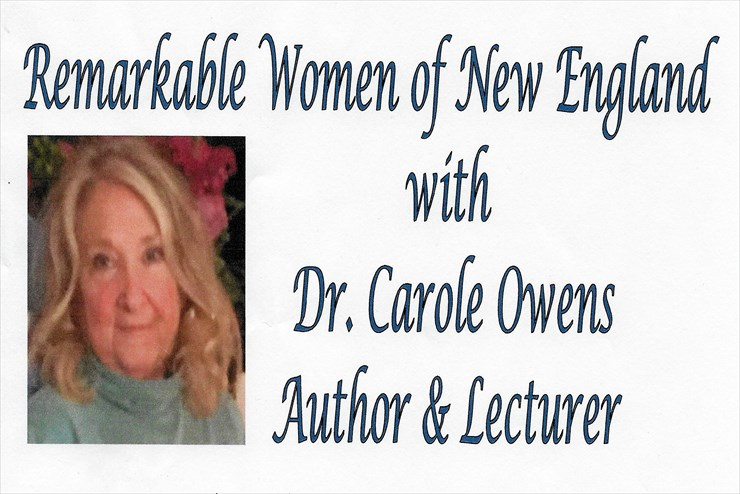 Carole Owens lecture & book signing – Wednesday, May 16th