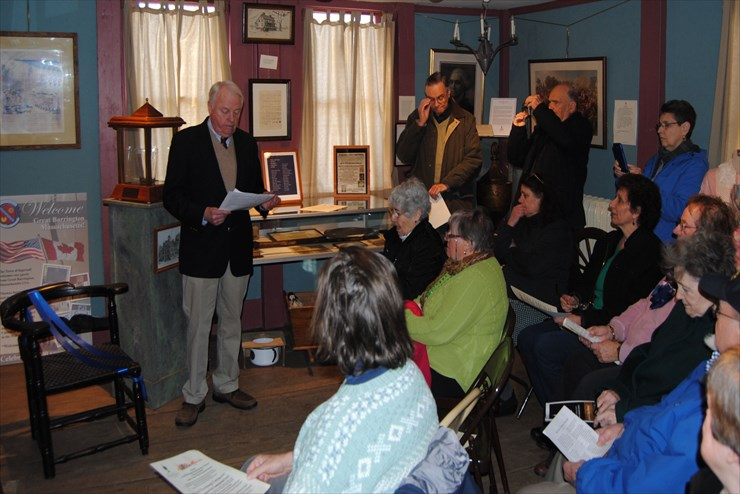 First Cong. Church presents the GBHS with two historical items