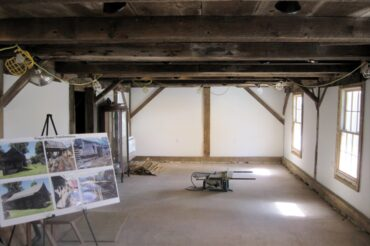 October 2021 News: The inside of the GBHS Wagon House is almost finished.