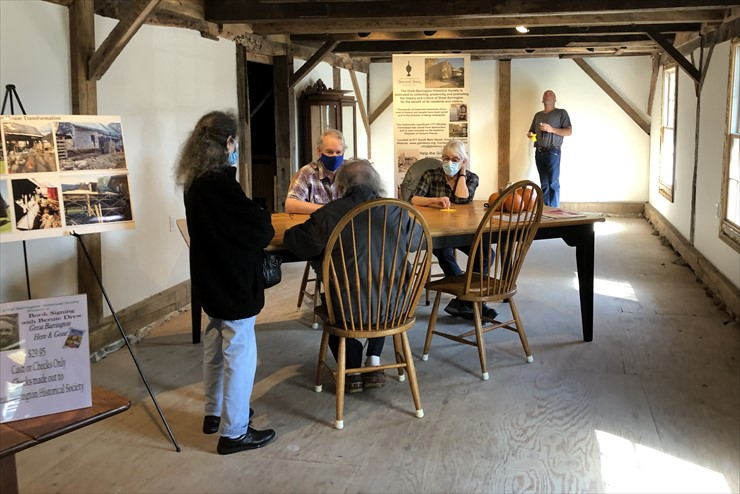 Book Signing by Bernie Drew at the new Wagon House took place on Oct. 16